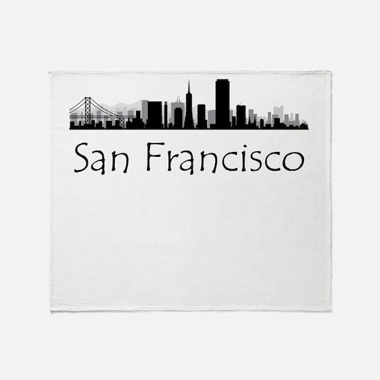 San Francisco California Cityscape Throw Blanket