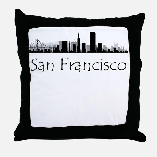 San Francisco California Cityscape Throw Pillow
