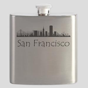 San Francisco California Cityscape Flask