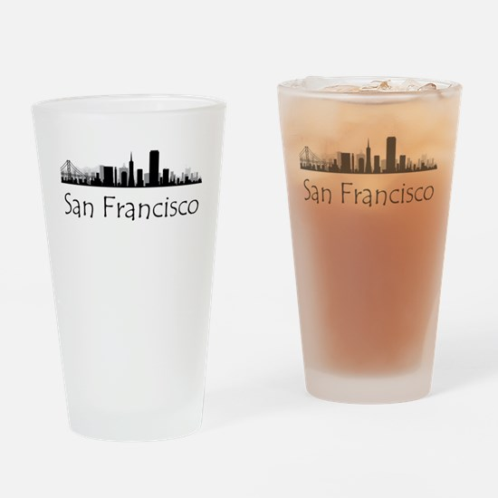 San Francisco California Cityscape Drinking Glass