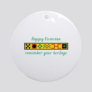 Happy Kwanzaa Round Ornament