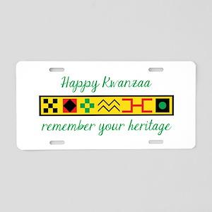 Happy Kwanzaa Aluminum License Plate