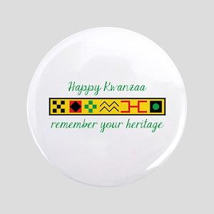 Happy Kwanzaa Button