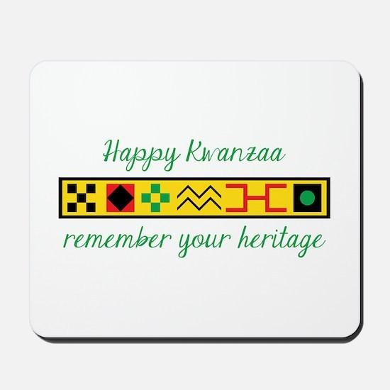 Happy Kwanzaa Mousepad