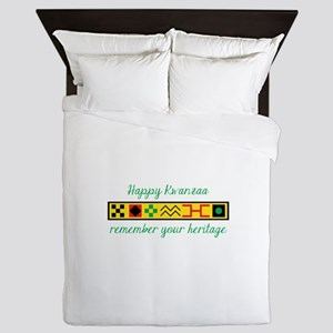 Happy Kwanzaa Queen Duvet