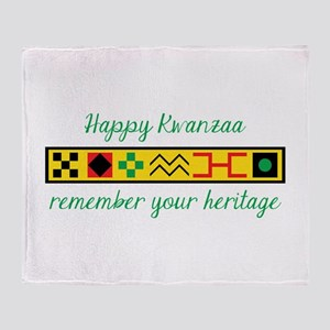 Happy Kwanzaa Throw Blanket