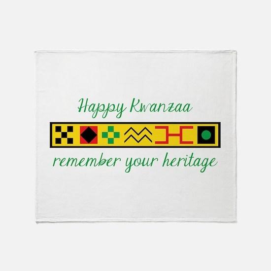 Happy Kwanzaa Throw Blanket
