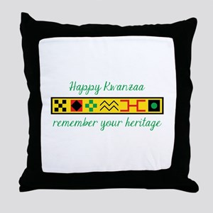 Happy Kwanzaa Throw Pillow