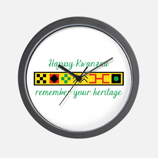 Happy Kwanzaa Wall Clock