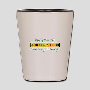 Happy Kwanzaa Shot Glass