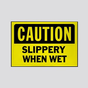 CAUTION - SLIPPERY WHEN WET! Magnets