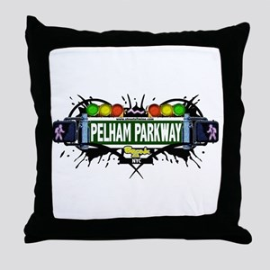 Pelham Parkway (White) Throw Pillow