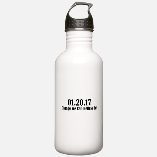 01.20.17 - Change We Can Believe In! Water Bottle