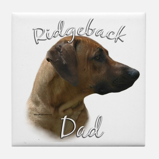 Ridgeback Dad2 Tile Coaster