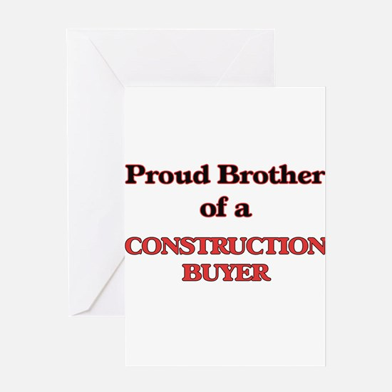 Proud Brother of a Construction Buy Greeting Cards