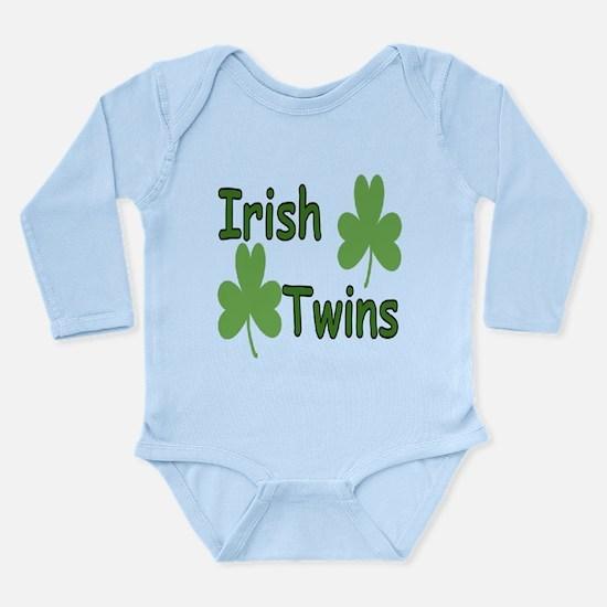 Cute Birthday for twins Long Sleeve Infant Bodysuit