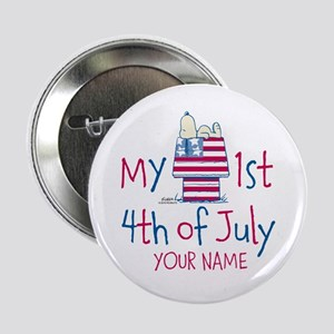 "Snoopy - My 1st Fourth 2.25"" Button"