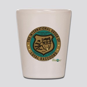 The Honeymooners: Loyal Raccoons Shot Glass