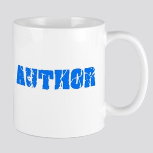 Author Blue Bold Design Mugs