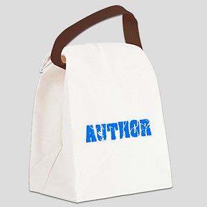 Author Blue Bold Design Canvas Lunch Bag