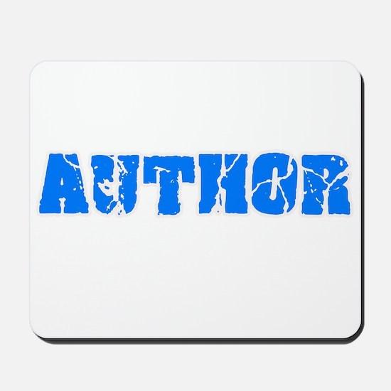 Author Blue Bold Design Mousepad