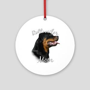 Rottweiler Mom2 Ornament (Round)