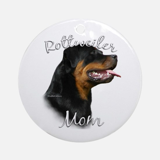 Rottweiler Mom2 Ornament (Round)