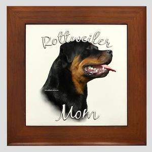 Rottweiler Mom2 Framed Tile
