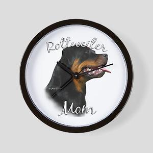 Rottweiler Mom2 Wall Clock