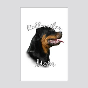 Rottweiler Mom2 Mini Poster Print