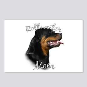 Rottweiler Mom2 Postcards (Package of 8)