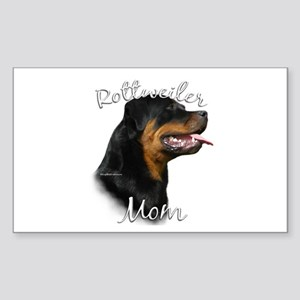 Rottweiler Mom2 Rectangle Sticker