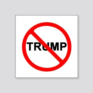 "No Trump Square Sticker 3"" X 3"""