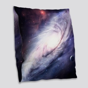 Milky Way Burlap Throw Pillow