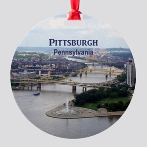 Pittsburgh Round Ornament