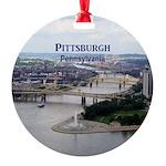 Pittsburgh Round Ornament