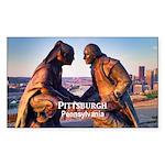 Pittsburgh Sticker (Rectangle 50 pk)
