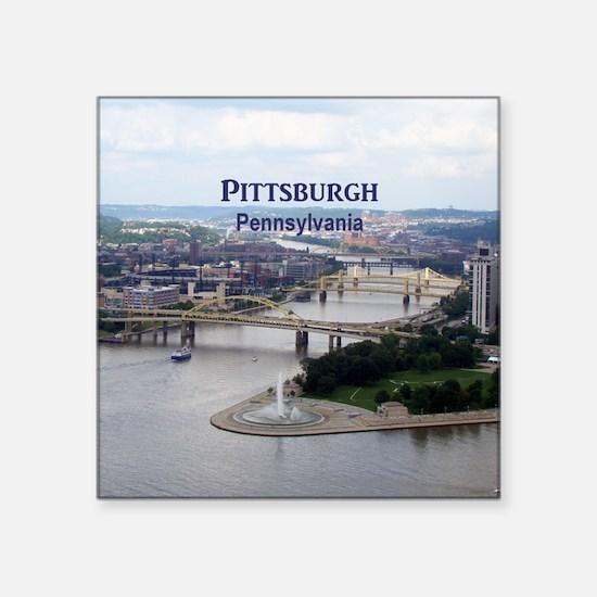 "Pittsburgh Square Sticker 3"" x 3"""