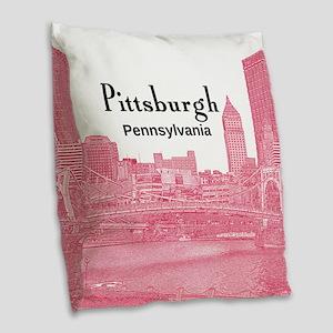 Pittsburgh Burlap Throw Pillow