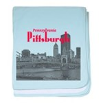 Pittsburgh baby blanket