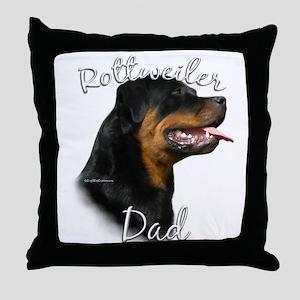 Rottweiler Dad2 Throw Pillow