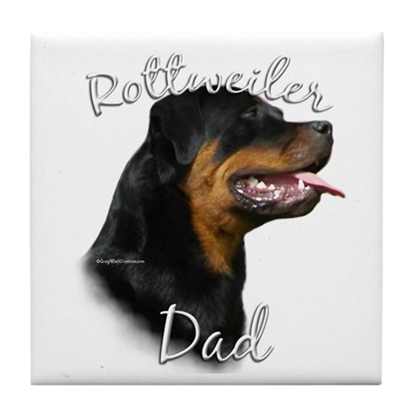 Rottweiler Dad2 Tile Coaster