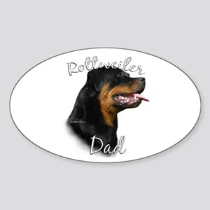Rottweiler Dad2 Oval Sticker