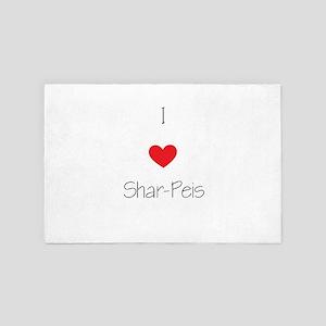 I Love Shar-Peis 4' X 6' Rug