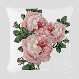 Roses are gorgeous Woven Throw Pillow