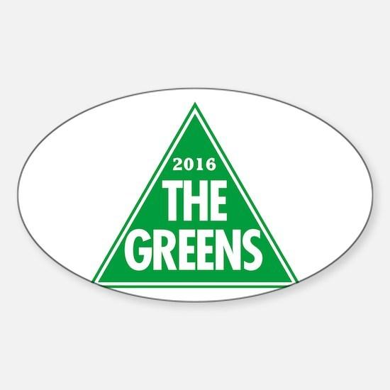 Greens 2016 Sticker (Oval)