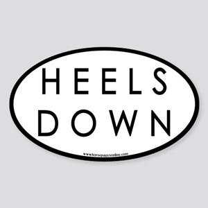 Heels Down (#3) Euro Oval Car Oval Sticker
