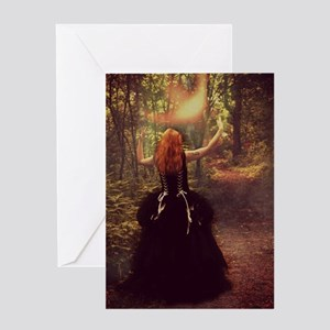 Red-Head Witch Greeting Cards