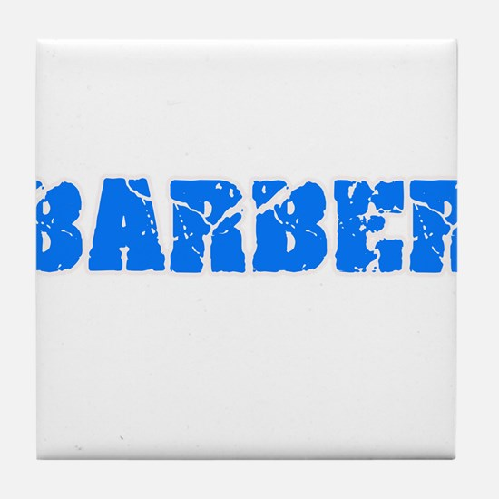 Barber Blue Bold Design Tile Coaster