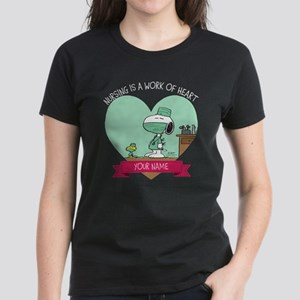 Snoopy Nursing - Personalized Women's Dark T-Shirt